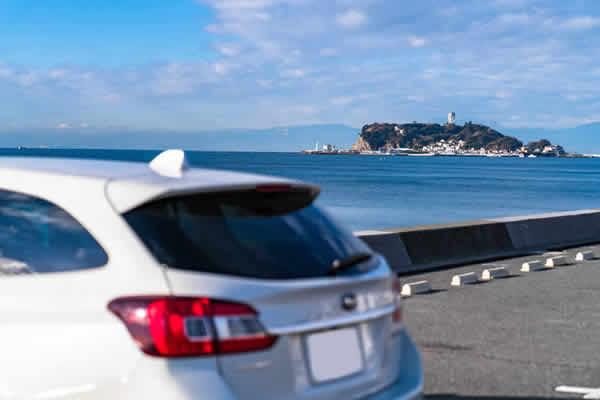 車で江ノ島に行く