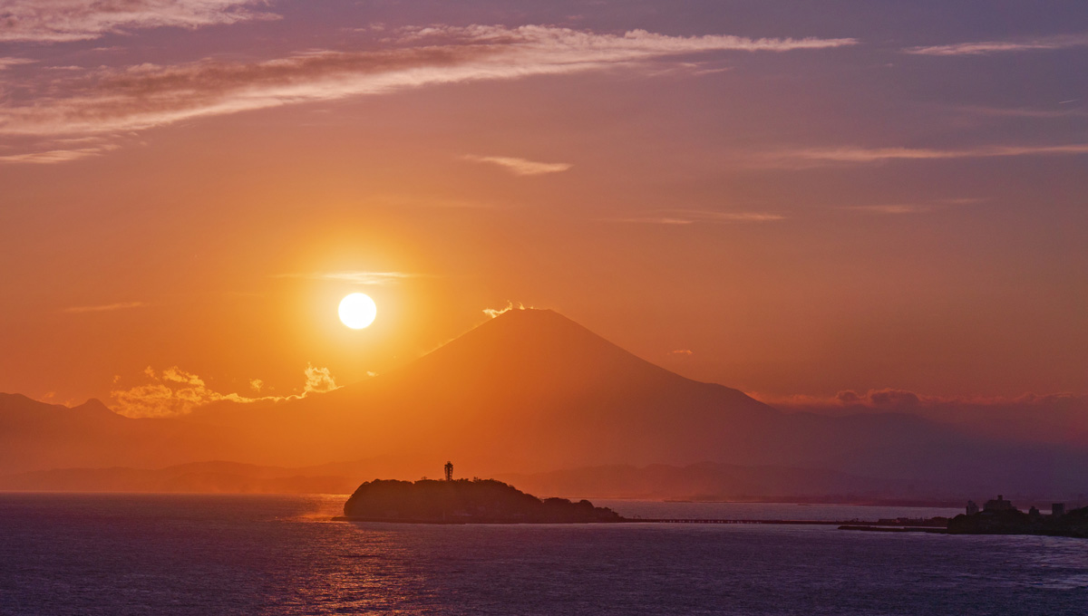 江の島 夕日