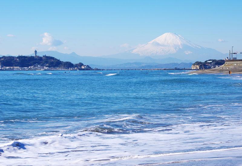 江の島 富士山