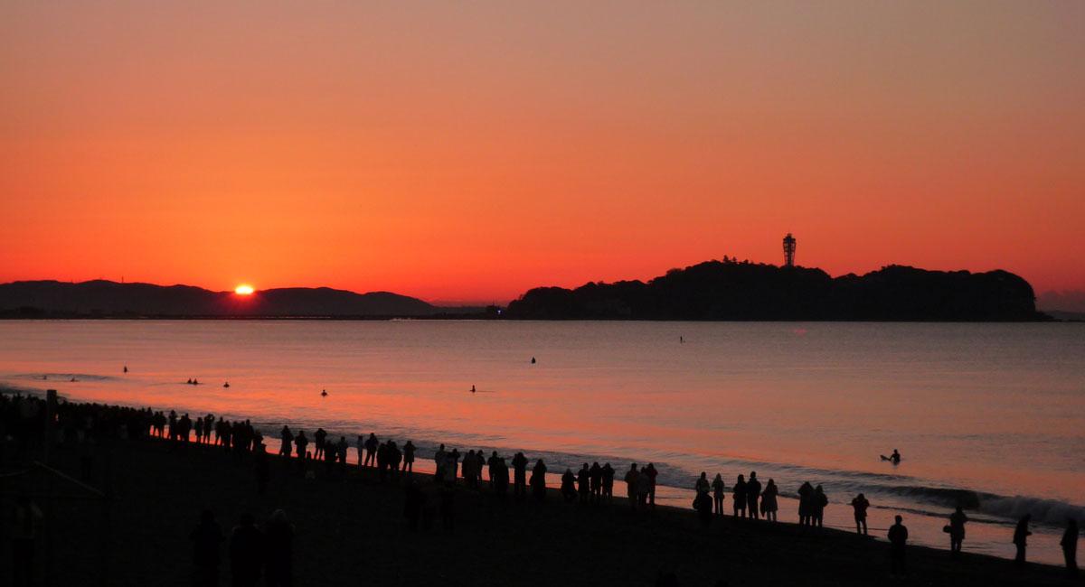 江の島 初日の出